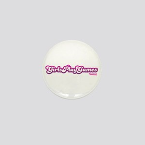 Girls Play Games Mini Button