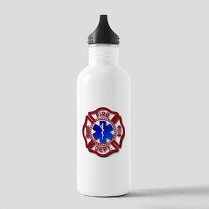 Maltese Cross and Star of Life Water Bottle