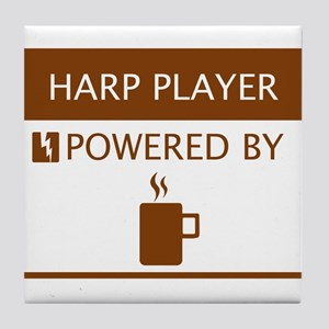 Harp Player Powered by Coffee Tile Coaster