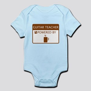 Guitar Teacher Powered by Coffee Infant Bodysuit