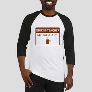 Guitar Teacher Powered by Coffee Baseball Jersey