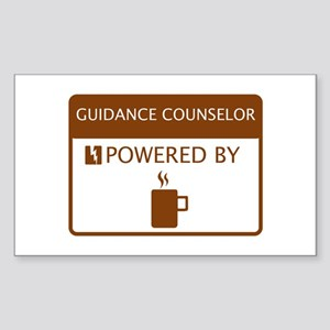 Guidance Counselor Powered by Coffee Sticker (Rect