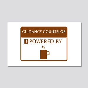 Guidance Counselor Powered by Coffee 20x12 Wall De
