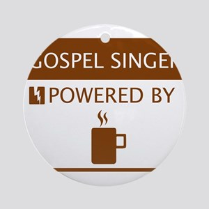 Gospel Singer Powered by Coffee Ornament (Round)