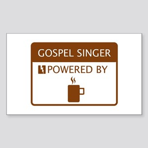 Gospel Singer Powered by Coffee Sticker (Rectangle