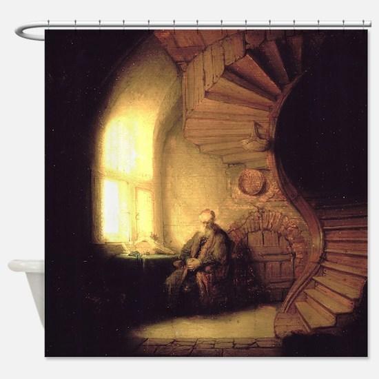 Rembrandt Philosopher in Meditation Shower Curtain