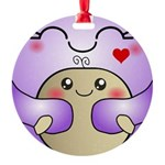 Kawaii Mother and Child Cute Hug Round Ornament