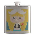 Cute Cartoon Girl from Holland Flask