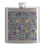 Star Stain Glass Pattern Flask