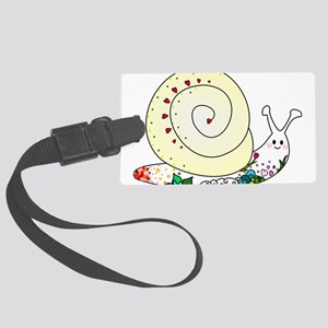 Colorful Cute Snail Large Luggage Tag