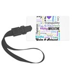 Relax Typography Large Luggage Tag