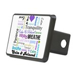 Relax Typography Rectangular Hitch Cover