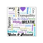 Relax Typography Square Sticker 3