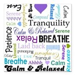 Relax Typography Square Car Magnet 3