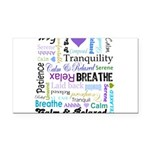 Relax Typography Rectangle Car Magnet