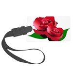 Two Red Roses Large Luggage Tag
