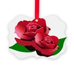 Two Red Roses Picture Ornament