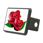 Two Red Roses Rectangular Hitch Cover