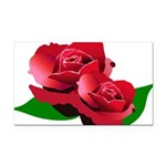 Two Red Roses Rectangle Car Magnet