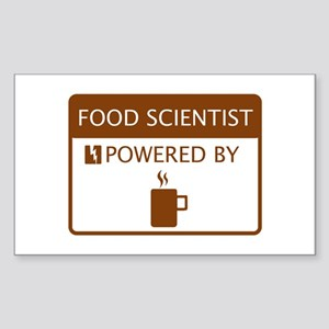Food Scientist Powered by Coffee Sticker (Rectangl