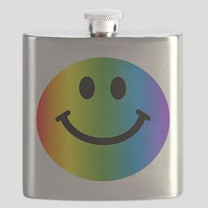 Rainbow Smiley Face Flask