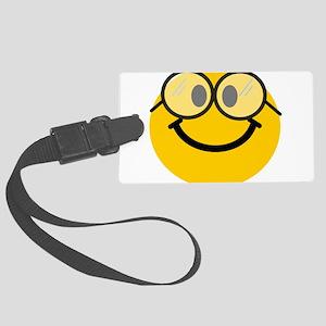 Geek Smiley Large Luggage Tag