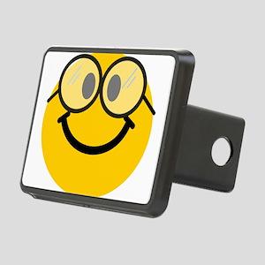 Geek Smiley Rectangular Hitch Cover