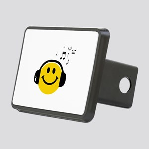 Music Love Smiley Rectangular Hitch Cover