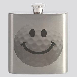Golf ball smiley Flask