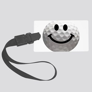 Golf ball smiley Large Luggage Tag