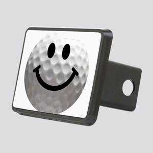 Golf ball smiley Rectangular Hitch Cover