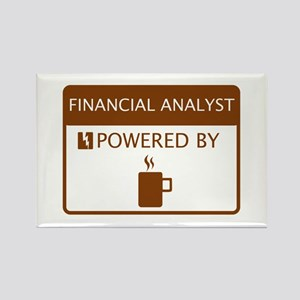 Financial Analyst Powered by Coffee Rectangle Magn