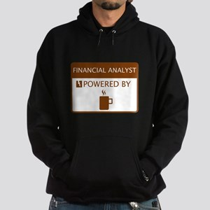 Financial Analyst Powered by Coffee Hoodie (dark)