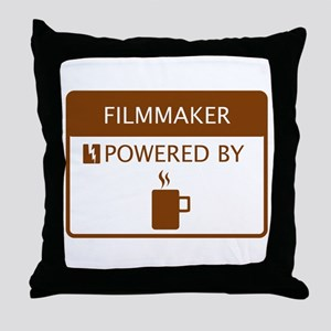Filmaker Powered by Coffee Throw Pillow
