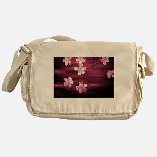Modern Floral Messenger Bag
