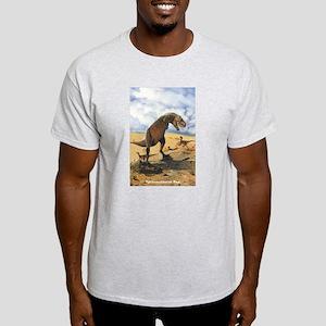 Tyrannosaurus Rex T-Rex Dinosaur (Front) Ash Grey