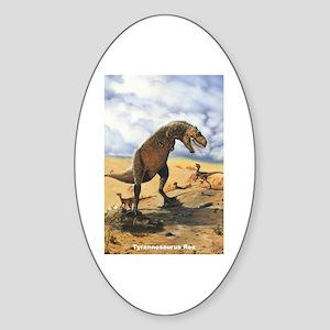 Tyrannosaurus Rex T-Rex Dinosaur Oval Sticker