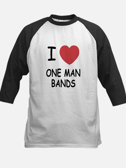 I heart one man bands Kids Baseball Jersey