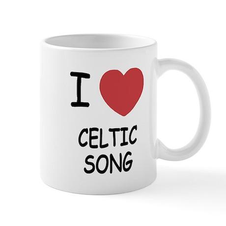 I heart celtic song Mug