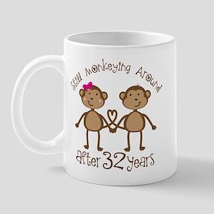 32nd Anniversary Love Monkeys Mug