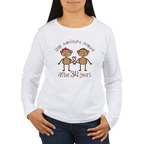 34th Anniversary Love Monkeys Women's Long Sleeve
