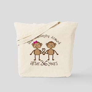 36th Anniversary Love Monkeys Tote Bag