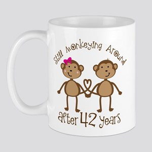 42nd Anniversary Love Monkeys Mug