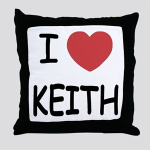 I heart KEITH Throw Pillow