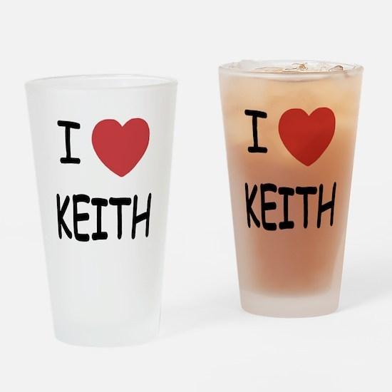I heart KEITH Drinking Glass