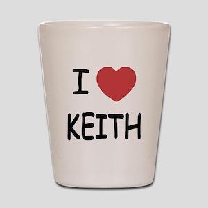 I heart KEITH Shot Glass