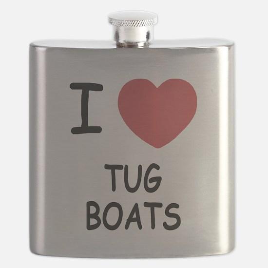 I heart tug boats Flask