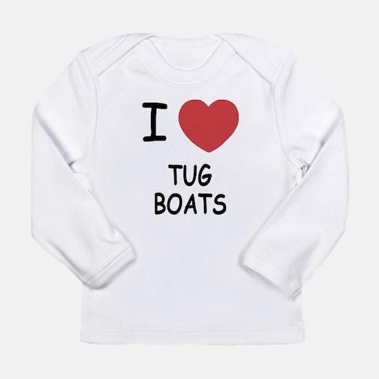 I heart tug boats Long Sleeve Infant T-Shirt