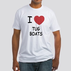 I heart tug boats Fitted T-Shirt
