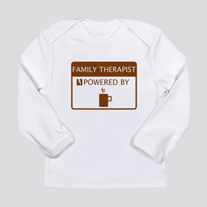 Family Therapist Powered by Coffee Long Sleeve Inf